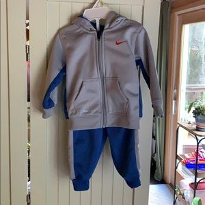 Toddler size 12 month Nike sweat suit, hoodie